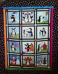 penguin+quilt | also managed to find an awesome penguin quilt that I want to make.