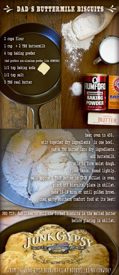 southern style buttermilk biscuits // junk gypsy book