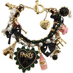 Paris French Charms Cute Jewelry Box Noir Accessories Heart