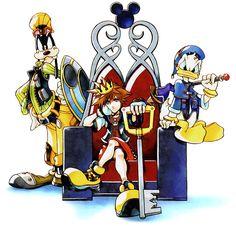 Kingdom Hearts | Square Enix | Disney Interactive Studios / Sora, Donald, and Goofy