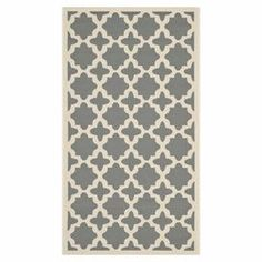 Anchor your living room or define a space in your master suite with this eye-catching rug, showcasing a quatrefoil motif in anthracite and beige.  Product: RugConstruction Material: PolypropyleneColor: Anthracite and beigeFeatures: For indoor or outdoor useNote: Please be aware that actual colors may vary from those shown on your screen. Accent rugs may also not show the entire pattern that the corresponding area rugs have.