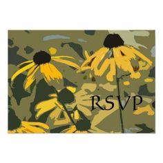Black-Eyed Susans Design Wedding RSVP Card