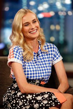 The beautiful actress Diane Kruger prefers the look of the Resort 2014 collection by Emanuel Ungaro Paris