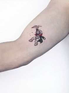 Small and Adorable Tattoos by Ahmet Cambaz from Istanbul, Tattoo designs, Small Tattoos Men, Unique Small Tattoo, Cool Tattoos For Guys, Tatoos Men, Tattoo Small, Tattos, Mini Tattoos, New Tattoos, Astronaut Tattoo
