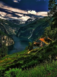 a fjord near Lom in norway By fo-to - Tobias Gahwiler                              .