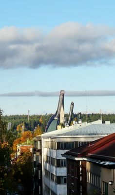 This photo from Southern Finland, South is titled 'Ski jumps Salpausselkä'. Ski Jumping, Scandinavian Countries, One With Nature, East Sussex, Helsinki, Countryside, Norway, Skiing, Places To Go