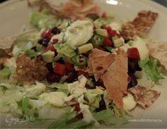 Мексиканский салат с фасолью и чипсами из лаваша | Официальный сайт кулинарных рецептов Юлии Высоцкой