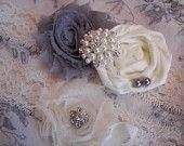 Ivory Lace Bridal Garter , Wedding Garter ,Toss Garter included , Pearl Accent. $29.00, via Etsy.