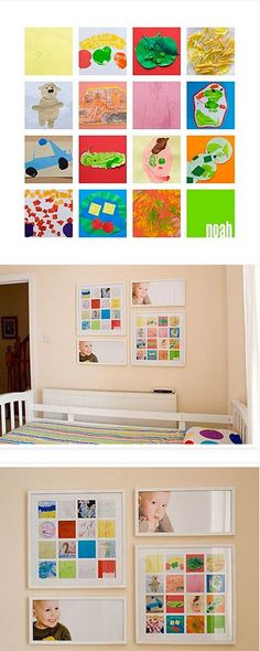 a cute way to display and preserve your child's artwork