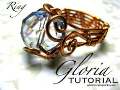 Description Level: Intermediate design and craft by RIMAUMANJA ********************************* Tutorial: GLORIA RING Created by R...