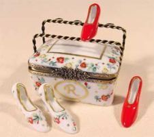 Red flowers Lady Shoe Box