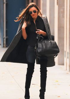 Tweed coat, denims, boots. | #MyNewFallEdit