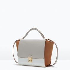 Image 2 of COMBINED CITY BAG WITH BUCKLE from Zara