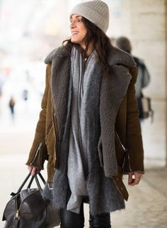 ....my shearling is RL faux but I layer exactly like this....REAL life dressing........