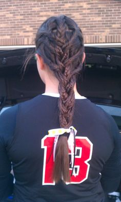 Softball hair!