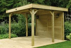 Prieel / buitenkeuken Outdoor Cabin Excellent van Hillhout met afmetingen: 390 x 342 x 250 cm (b x d x h)