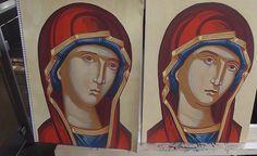 Σπουδή στον κόπο των μαθητών Religious Icons, Religious Art, Face Lightening, Byzantine Art, Sacred Art, Three Dimensional, Princess Zelda, Drawings, Illustration