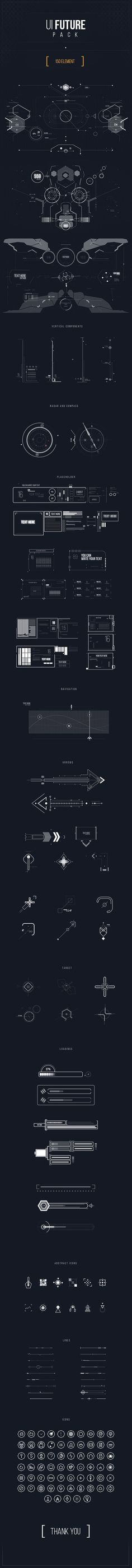 Great idea for wall decor! Checkout UI FUTURE PACK on Behance