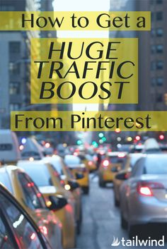 How to Get a Huge Traffic Boost From Pinterest. Pinterest sends more referral traffic than almost any other site on the planet. Here's how to get more Traffic from Pinterest to your blog or website via @tailwind