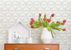 29,33€ Preço por rolo (por m2 5,50€), Papel de parede geométrico…