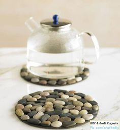 Simple stone coasters. >> Diy Craft Projects