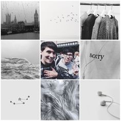 dan + phil || grey aesthetic