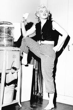 Marilyn at Fox studios by Philippe Halsman, 1952.