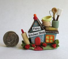 Handmade Miniature FAIRY GOURMET KITCHEN STORE - OOAK - by C. Rohal #CRohal