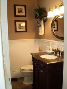 Whole Wall In Beadboard W Crown Molding Bathrooms