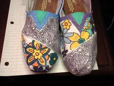 I want to design my own pair of Toms, kind of like these but less sloppy