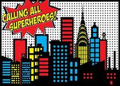 superhero skyline backdrop - Bing images