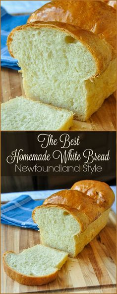 The Best Homemade White Bread - This Newfoundland recipe is well over 40 years old & turns put perfectly every time. Comfort food home baking at its best. bread recipe The Best Homemade White Bread - Rock Recipes Easy Bread Recipes, Baking Recipes, Dessert Recipes, Pudding Recipes, White Bread Recipes, Quick Bread, Best Bread Recipe, Dinner Recipes, Flower Bread Recipe