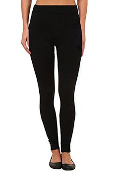 62123cf0a06c2d Fleece Lined Leggings Seamless One Size Black * You can get more details by  clicking on