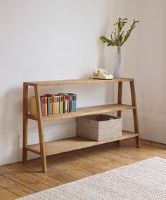 Lombok Sumatra Wide Ladder Bookcase from Lombok Diy Furniture Projects, Furniture Decor, Living Room Furniture, Living Room Decor, Furniture Design, Muebles Living, Ladder Bookcase, Furniture Inspiration, Diy Home Decor