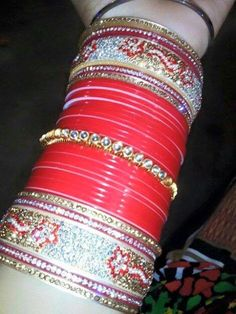 Online Shop for every customer, every range, every country. Want to Purchase our products. You can add us on our what's app no. +91 9416307694 or call us with your requirement regarding designs, colour and size of Personalize Name Bangles . We r manufacturer & wholesaler not a trader. You can also send any design of chura. We make it exactly same for you. Reseller Can contact. Wedding Accessories, Wedding Jewelry, Chuda Bangles, Punjabi Chura, Wedding Chura, Bridal Chuda, Bridal Bangles, Punjabi Wedding, Makeup Swatches