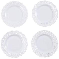 Doily Plate $6 for each. Pier 1.