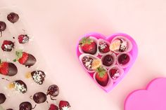 A healthy(er) Valentine's Day chocolate box- chocolate covered fruit!