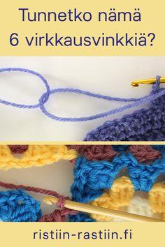tunnetko 6 virkkausvinkkiä? Crochet Stitches, Knit Crochet, Crochet Patterns, Crochet Home Decor, Knitting Socks, Handicraft, Needlework, Diy And Crafts, Crochet Necklace