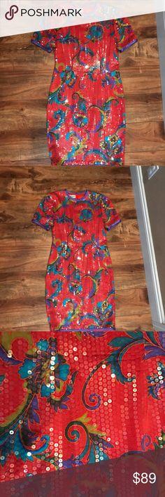 A.J bari vintage sequin and silk dress A.J bari vintage sequin and silk dress A.J. Bari Dresses Mini