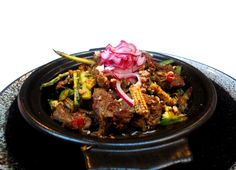 Spicy Dry Beef Curry - Young Corns & Pickled Onion