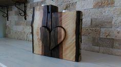 Wood Candle Holder Ahşap Mumluk Romantik aşıklara