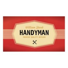 Cool vintage country western sunburst double sided standard business vintage handyman business cards handyman business card colourmoves