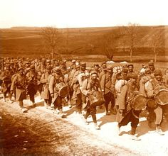 WW1, bataillon en marche
