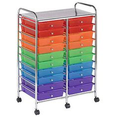 20-Drawer Mobile Organizer, Multi-Colored
