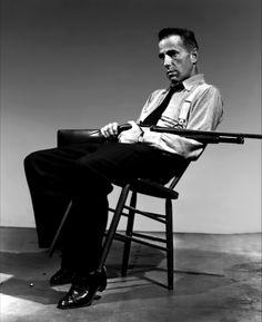 """HIGH SIERRA - Humphrey Bogart as """"Mad Dog"""" Earl - Directed by Raoul Walsh - Warner Bros. - Publicity Still."""