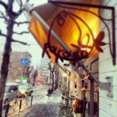 東京の初雪です。