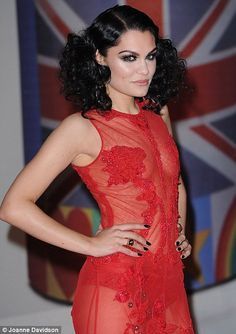 Jessie J rocking curly hair at the Brits Awards 2012