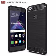 Case for Huawei P8 Lite 2017 Phone Cover Carbon Fiber Brushed TPU Mobile Phone Case Cover for Huawei P8 Lite 2017 Shell