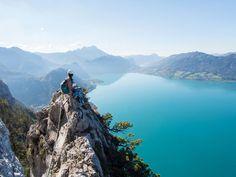 Klettersteig Mahdlgupf Attersee Salzburg, Hallstatt, Seen, Roadtrip, Van Life, Climbing, Mountains, Nature, Travel