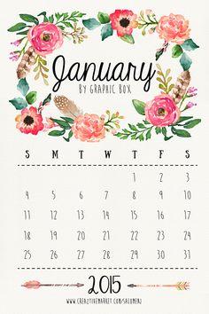 https://www.behance.net/gallery/22804079/New-freebies-2015-Calendar-January-February
